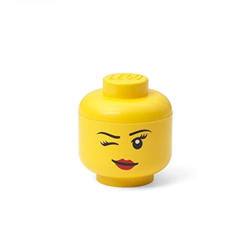LEGO Aufbewahrungskopf, Mini, Winking, Gelb, one Size