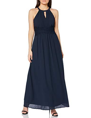 Vila Damen Vimilina Halterneck Maxi Dress - Noos Kleid, Total Eclipse, 42 EU