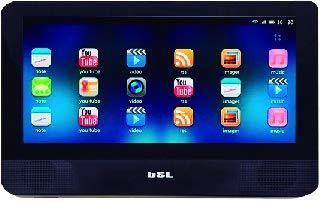 Tragbarer DVD-Player für Auto, Android, 9 Zoll, BSL-9TANDX, Touchscreen, mit Bluetooth und WiFi, 1 GB RAM 8 GB ROM, HDMI, Micro-USB zum Laden und Daten und TF-Slot für MicroSD.