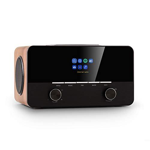 auna Connect 150 SE - Smart Radio 2.1-Internetradio, DAB/DAB+ / PLL-UKW-Radio, Mediaplayer, Spotify Connect, Bluetooth, HCC-Display: 2,8' TFT-Farb-Display, App-Control via UNDOK, walnuss