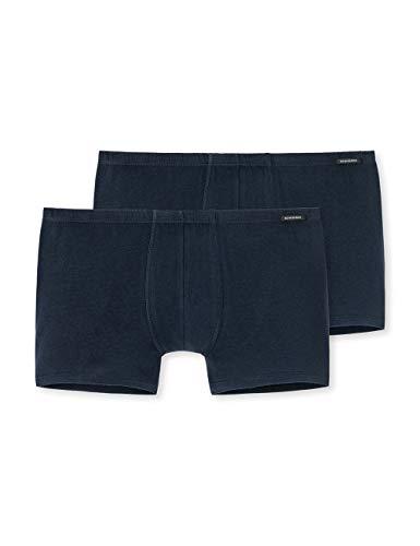 Schiesser Herren Shorts (2er Pack) Boxershorts, Blau (Dunkelblau 803), 6
