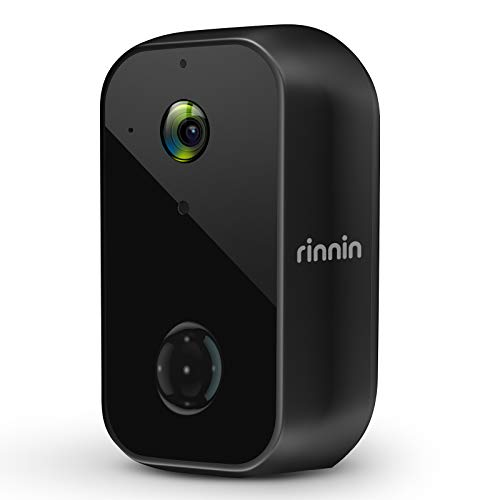 Überwachungskamera Aussen Akku WLAN IP Kamera, Rinnin 1080P Kabellose Outdoor Batteriebetrieben Wasserdicht Überwachungskamera mit Nachtsicht, PIR-Bewegungserkennung, 2-Wege-Audio, Cloud & SD