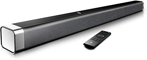 BOMAKER Soundbar für TV Gerät, 2.0 Kanal, 120 dB 37 Zoll TV Lautsprecher, Bluetooth 5.0 mit integriertem Subwoofer, DSP, mit AUX, USB, Optischer Anschluss-Odine I