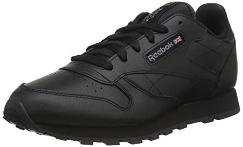 Reebok Classic Leather, Unisex-Kinder Sneaker, Schwarz (Black), 36 EU