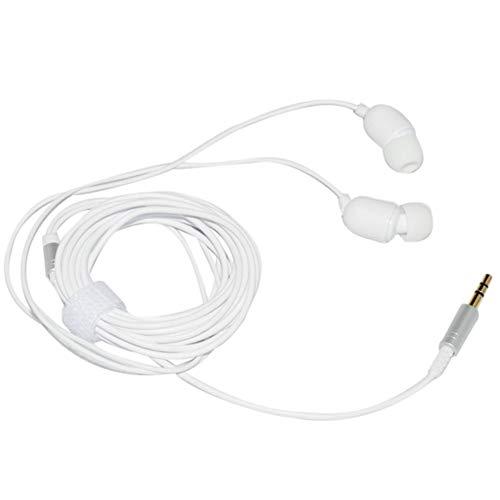 Marxways Ohrhörer, In-Ear-Kopfhörer Kopfhörer mit 3,5 mm MP3-Kontrabass 3 Meter Langer Kopfhörer-Kopfhörer für Anker, Mikrofon-Stereo-Ohrhörer-Metallkopfhörer (Weiß)