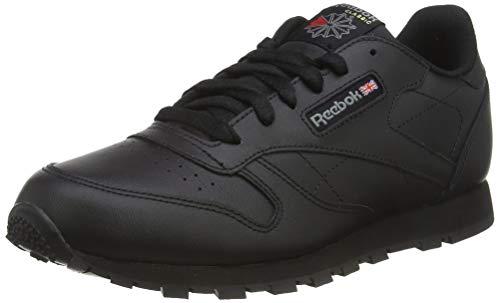 Reebok Classic Leather, Unisex-Kinder Sneaker, Schwarz (Black), 35 EU