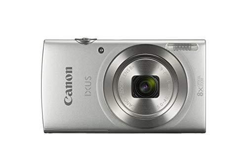 Canon IXUS 185 Digitalkamera (20 MP, 6,8cm (2,7 Zoll) LCD, Display, DIGIC 4+, 8x optischer Zoom, Smart Auto, HD Movies, USB, 720p) silber