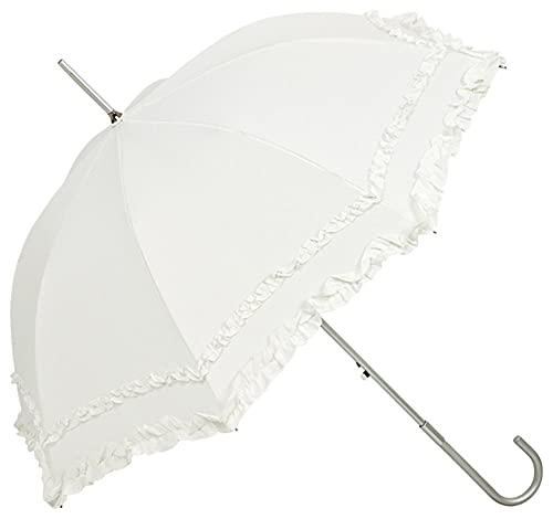 VON LILIENFELD Regenschirm Sonnenschirm Brautschirm Hochzeitsschirm Kostüm Tracht Auf-Automatik Mary ecru