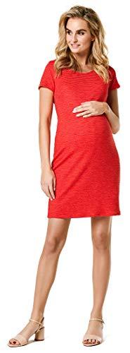 Noppies Damen Dress ss Zinnia Kleid, Rot (Bittersweet P086), 42 (Herstellergröße: XL)