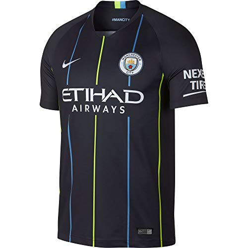 Nike Herren Manchester City Away Stadium 2018/2019 T-Shirt, dunkelblau/weiß, XL