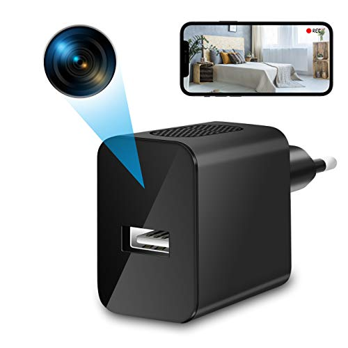 Mini Kamera | WLAN IP Kamera | 4K HD Mini Überwachungskamera |Innen Kleine Home Office Sicherheitskamera| Minikameras Live übertragung Handy APP mit Bewegungsmelder Videoaufzeichnung (2,4Ghz)