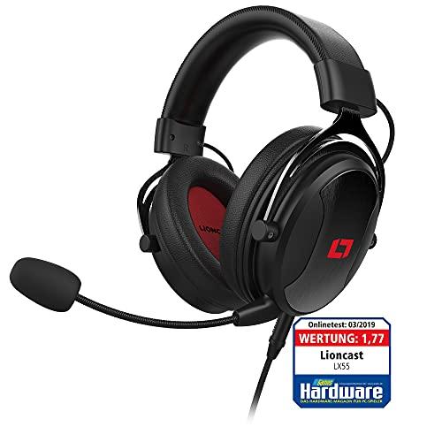 Lioncast LX55 Gaming Headset mit Mikro für Playstation 5 / PS5 / PS4 / Switch/PC, brachialer Stereo Sound, HiFi Soundqualität, 53mm-High-Performance-Treiber, geschlossene Over-Ear Kopfhörer