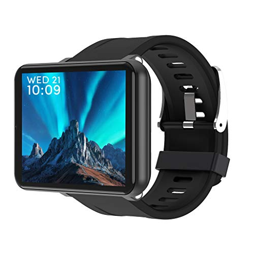 LEMFO LEM 2.86 Zoll LCD Smartwatch wasserdicht IP67 4G Smart Watch Watch mit Pulsmesser Fitness Tracker Sportuhr Fitnessuhr, 2700 mAh Batterie mit großer Kapazität 1 GB + 16 GB Von: LQIAN (Schwarz)