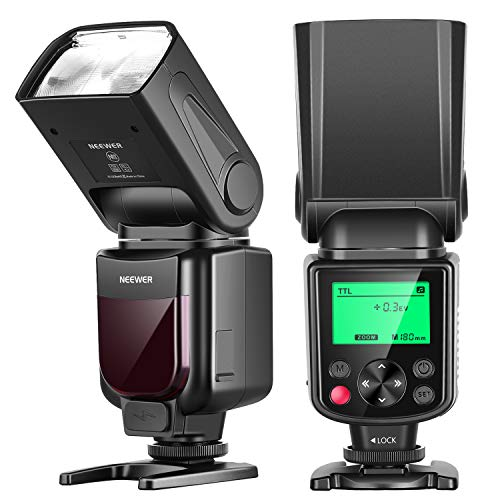 Neewer 750II TTL Blitz Speedlite mit LCD Display für D7200 D7100 D7000 D5500 D5300 D5200 D5100 D5000 D3300 D3200 D3100 D3000 D700 D600 D500 D90 D80 D70 D60 D50 und alle anderen Nikon DSLR Kameras