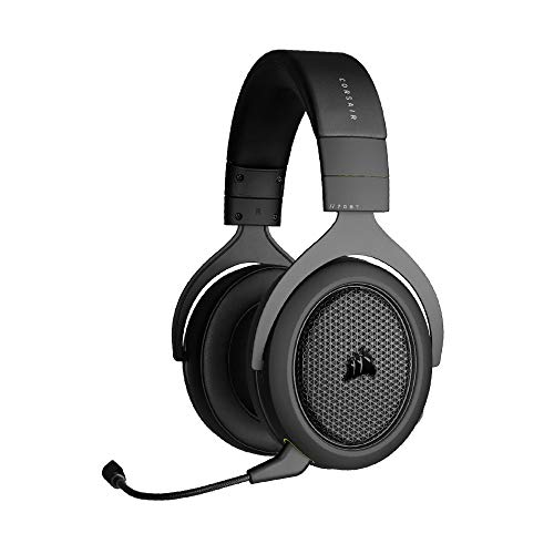 Corsair HS70 BLUETOOTH Multi-Plattform Gaming-Headset (Gaming-und Chat-Audio Gleichzeitig, Umfangreiche Gerätekompatibilität, 50-mm-Neodym-Lautsprecher, Ohrmuscheln aus Memory-Schaumstoff) Schwarz
