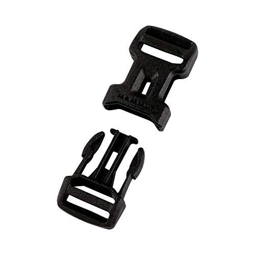 Mammut Dual Adjust Side Squeeze Buckle Ersatz-steckschnalle, Black, 38 mm