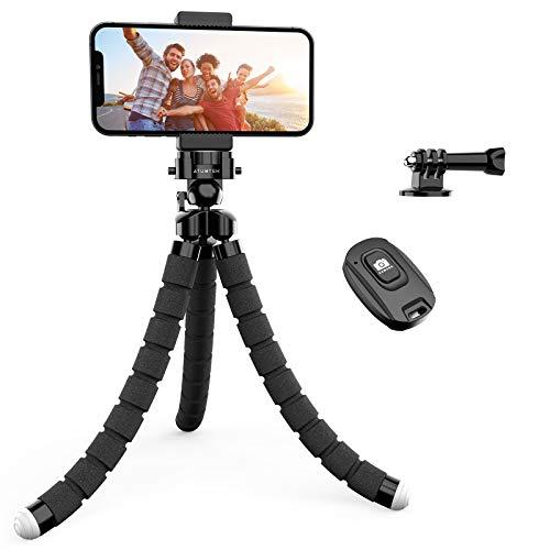 Handy Stativ, ATUMTEK Smartphone Stativ Flexibel Dreibeinstativ Universal Handy Halterung Halter Kamera Ständer mit Bluetooth Fernsteuerung Shutter für Kamera, iPhone, Samsung und Andere Smartphones