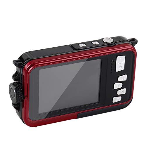 DJG Unterwasserkamera 24.0MP wasserdichte Digitalkamera Full HD 1080P Selbstauslöser Doppel-Screen-Video-Aufnahme-wasserdichte Kamera,C