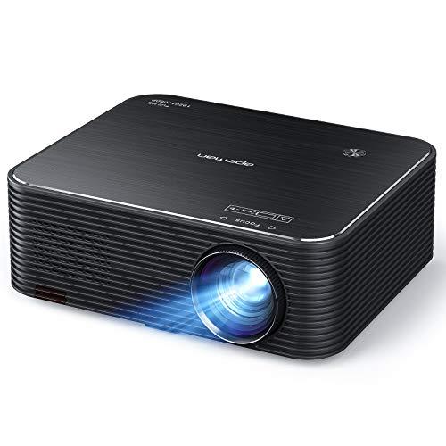 APEMAN LC650 Beamer, Native 1080P Full HD Heimkino Projektor, 300 ' LED Display Unterstützt 4K Video, 4D Elektronische Korrektur & 75% Zoom, mit HDMI/USB /AUX, Phone/Laptop/TV Stick/PS4