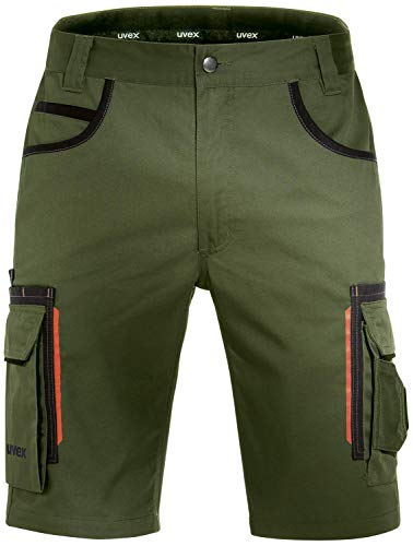 Uvex Tune-Up Arbeitshosen Männer Kurz - Shorts für die Arbeit - Grün - Gr 36W/Etikettengröße- 54