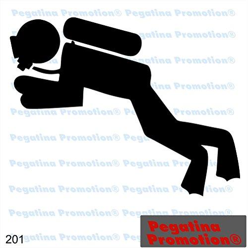 Piktogramm Typ 201 Icon Symbol Zeichen Taucher Diver Tauchsport Tauchschule Aufkleber Sticker ca.15cm von Pegatina Promotion Aufkleber mit Verklebehilfe von Pegatina Promotion ohne Hintergrund geplottet