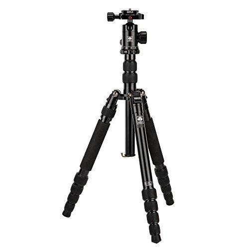 SIRUI NT-1005X/E-10 Universal Traveler Drei-/Einbeinstativ mit E-10 Kopf (Aluminium, Höhe: 148.3cm, Gewicht: 1.44kg, Belastbarkeit: 8kg) mit Tasche