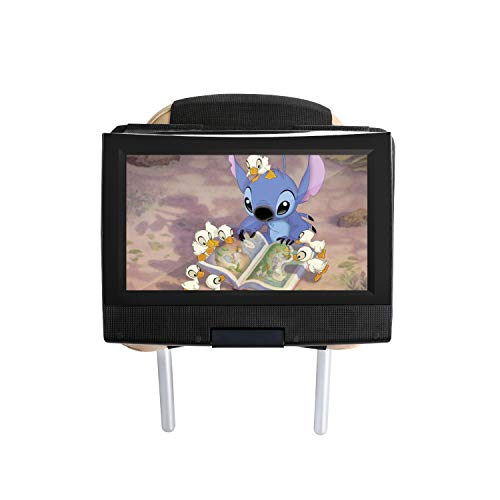Auto Kopfstütze Halterung für 7-11 Zoll Drehgelenk & Flip Tragbarer DVD Player/Fit für alle Swivel und Flip-Typ tragbare DVD-Player unter 12 Zoll - Schwarz