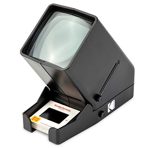 KODAK 35-mm-Diaprojektor und Filmbetrachtungsgerät – Batteriebetrieb, 3-fache Vergrößerung, LED-beleuchtete Anzeige – für 35-mm-Dias und Filmnegative