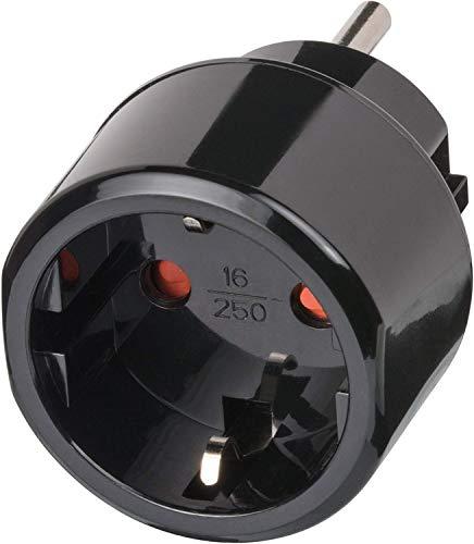Brennenstuhl Reisestecker / Reiseadapter (Reise-Steckdosenadapter für: USA Steckdose und Euro Stecker) schwarz