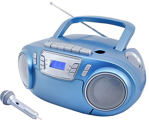 Soundmaster SCD5800BL CD MP3 Kassettenrekorder mit USB und Mikrofon