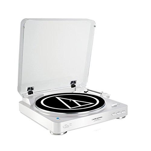 Audio-Technica AT-LP60WHBT Vollautomatischer Wireless- Stereoplattenspieler mit Riemenantrieb weiß