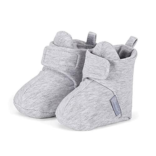 Sterntaler Unisex Kinder Baby-schuh Krabbel- & Hausschuhe, Alter: 6-9 Monate, Grau (Silber), 18