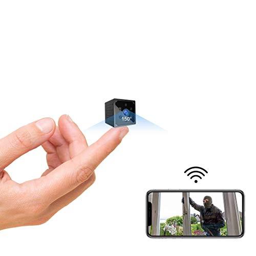 Mini Kamera,TODAYI 4K HD WLAN Mini Überwachungskamera Lange Batterielaufzeit WiFi Minikamera live Handy APP Kompakte Kleine Sicherheitskamera für Innen mit Bewegungsmelder Speicher Nachtsichtkamera