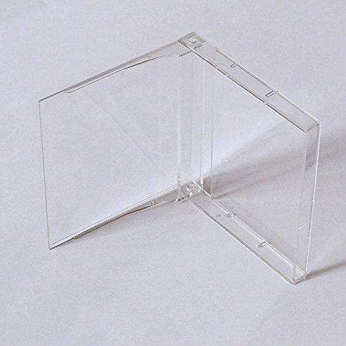 abc promedia MD MiniDisc Hüllen/Leerhüllen, für MiniDisc-Kassetten, transparent-hochklar (50 Stück)
