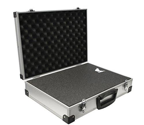 PeakTech 7270, Flightcase mit gepolstertem Schaumstoff, abschließbarer Aufbewahrungskoffer, tragbare Aluminiumbox mit schützendem Würfelschaumstoff, Universal-Alukoffer, schützend, extragroß (500 x 350 x 120 mm)