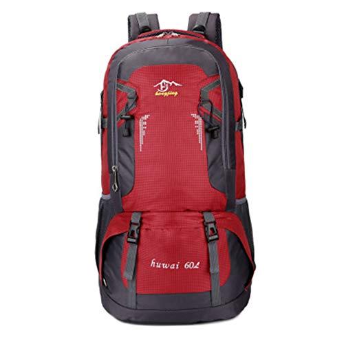 HWZZ 60L Wasserdichter Outdoor-Reiserucksack Camping Trekkingtasche Für Mann Frau Klettern Wanderrucksack Angeln Radsport Rucksack,A