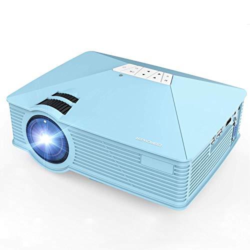 Beamer, DBPOWER GP15 Mini Tragbare LED Beamer, 2400 Lumen Projektor Großes Bild 180 Zoll Full HD 1080P Multimedia Unterstützung HDMI VGA AV USB TF Für Laptop Fernseher Handy Supporto Home Cine