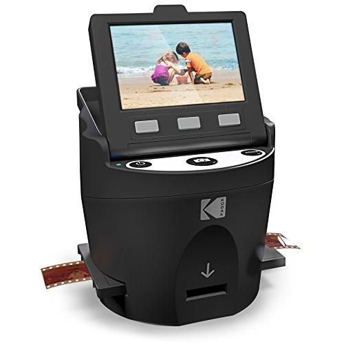 Kodak Digital Film Scanner, Konvertiert Negative und Filmdias 35mm, 126, 110, Super 8 und 8mm in JPEG inkl. großem neigbarem 3,5-Zoll-LC-Display und EasyLoad-Filme