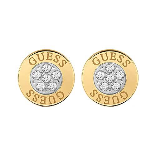 Guess Damen-Ohrstecker Edelstahl 12 Kristall One Size Gold 32003481