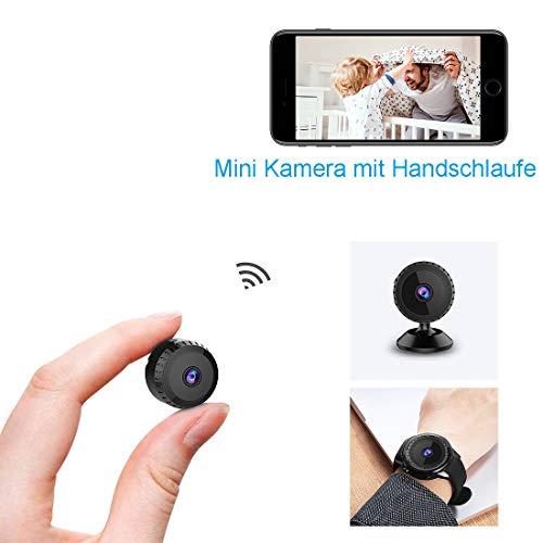 Mini Kamera,TODAYI Klein Akku Überwachungskamera Aussen Innen WLAN Handy mit Bewegungserkennung und Speicher Aufzeichnung Mikro WiFi IP Kamera,Nachtsicht Wireless Nanny Cam