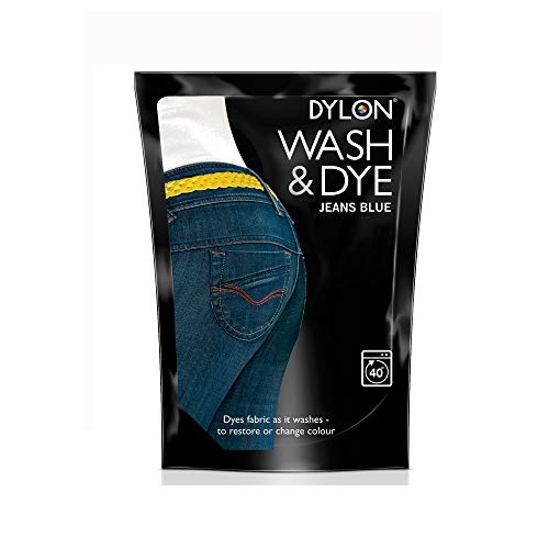 Dylon Waschen und Färben, Pulver, Schokoladenbraun, Jeans Blue, 13x4x18 cm