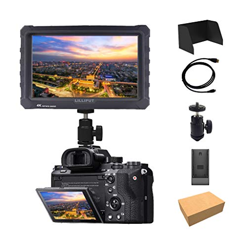 Schwarz Lilliput A7s 7 Zoll 1920x1200 HD IPS Camera Field Monitor Kamera Feldmonitor Feld Monitor 4K HDMI for DSLR Mirrorless Camera A7 A7R A7S III A6500 A9 Panasonic GH5 GH5s Canon Nikon DJI Ronin