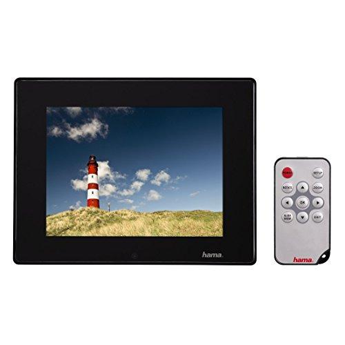 Hama Digitaler Slimline Basic Acryl Bilderrahmen (30,7 cm (12,1 Zoll), SD/SDHC/MMC-Kartenslot, USB 2.0, mit Fernbedienung) schwarz