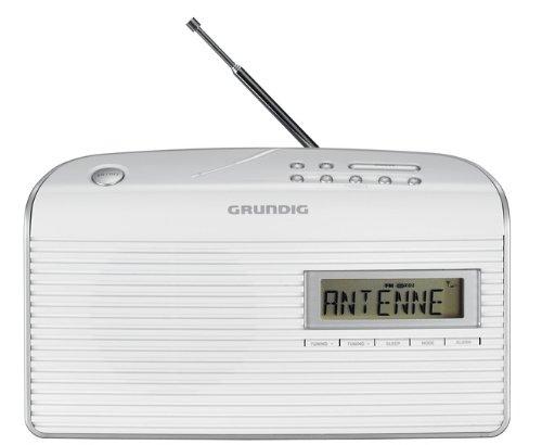 Grundig Music 61 empfangsstarkes Radio, weiß/silber