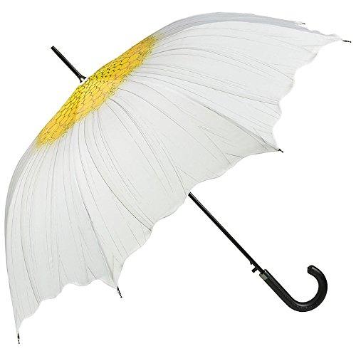 VON LILIENFELD Regenschirm Automatik Damen Motiv Wellenkante Margerite