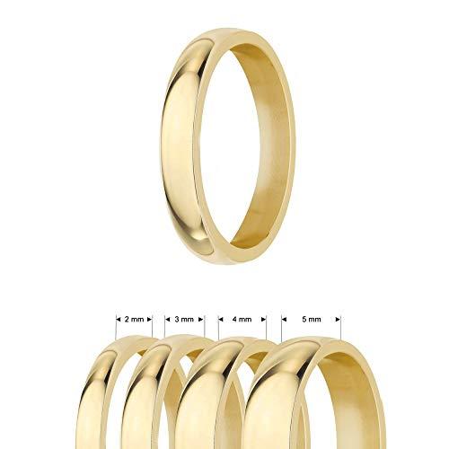 Treuheld®   Ring aus Edelstahl   Gold   Ringgröße 60   Breite 4mm   Damen & Herren   glänzend   Freundschaftsring Verlobungsring Ehering