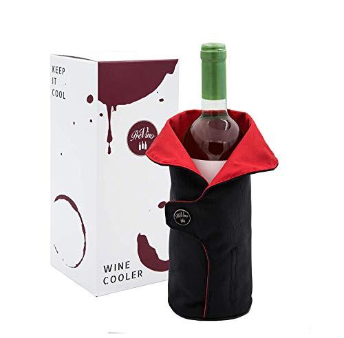 PreVino Weinkühler Set mit Kühlmanschette - Schnelle und Lange Kühlung von Weinflaschen | Wine Cooler |