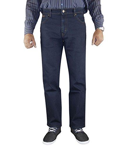 Wrangler Mens Texas Stretchable Denim Jeans Blue Black 34 Waist 32 Leg