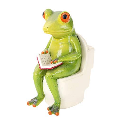 TLM Toys Skulptur Frosch,skulptur Deko Harz Innovativer Frosch,büro Deko Wohnzimmer Deko,deko Figuren Für Schlafzimmer, Wohnzimmer, Büro, Café