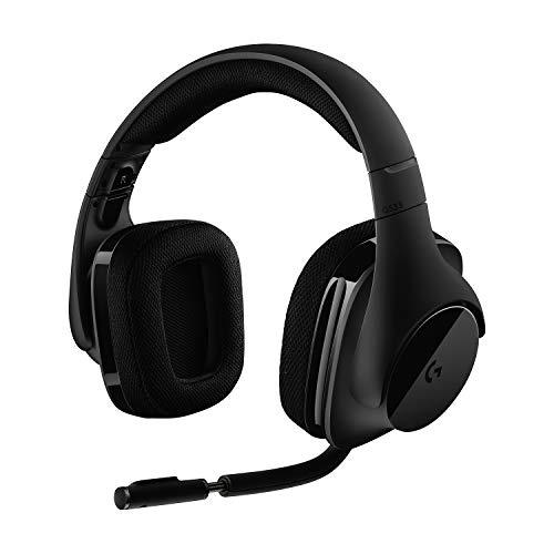 Logitech G533 kabelloses Gaming-Headset, 7.1 Surround Sound, DTS Headphone:X, 40mm Treiber, 2.4 GHz Wireless, Noise-Cancelling Mikrofon, Wireless Verbindung, 15-Stunden Akkulaufzeit, PC/Mac - Schwarz